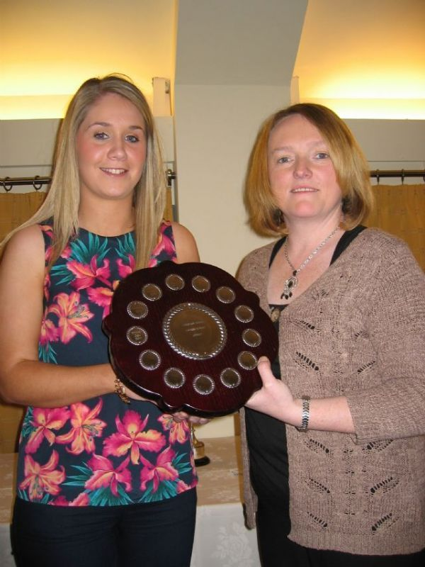 Caoimhe collects Junior Shield