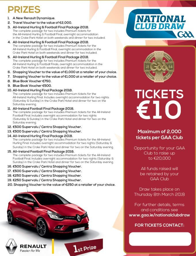 Super Prizes in National Club Draw