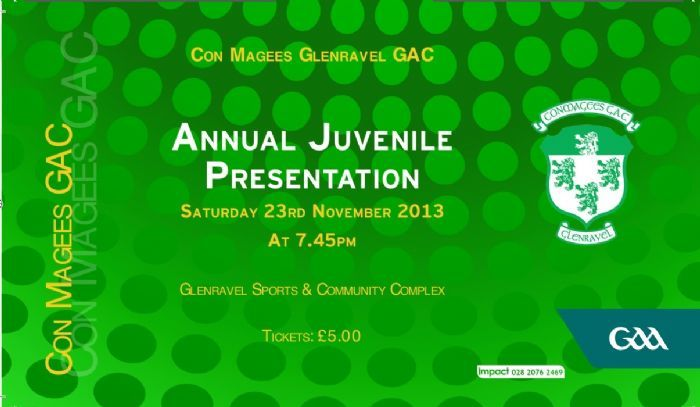 Tickets for Juvenile Presentation