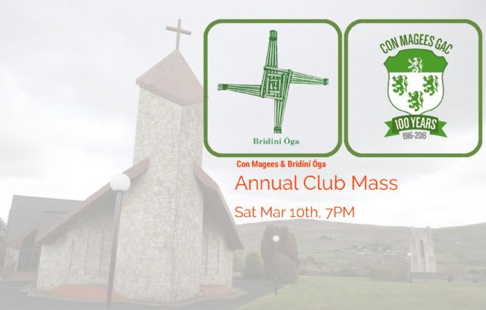 Con Magees & Bridini Oga, Annual Club Mass